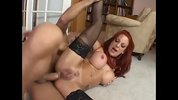 Amazing MILF with great boobs and sexy lingerie Shannon Kelly stretches her legs to be anal fucked by big dick