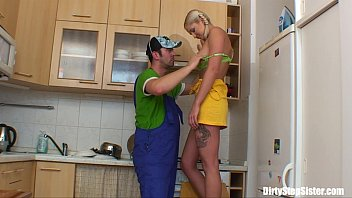 thumb blonde russian  teen gets her pussy plumbered  ussy plumbered ussy plumbered