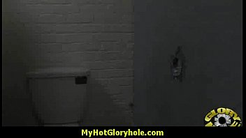 Gloryhole cock licking and sucking interracial 3