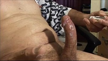 Wanking my cock until it cums