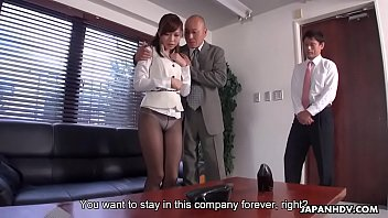 Japanese office lady, Aihara Miho got blackmailed and fucked, uncensored