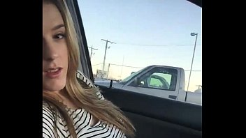Reese auto door bottom Hot blonde girl next door fingers herself in her car