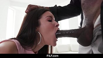 FILF - Eden Sin is obsessed by her stepdad's huge black dick