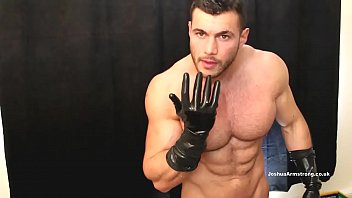 Gay glove fetish Daddy loves the latex gloves