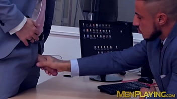 Handsome office stud banging coworker during lunch break
