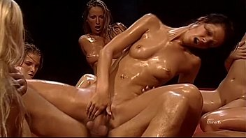 Surreal reverse gang bang for Rocco Siffredi thumbnail