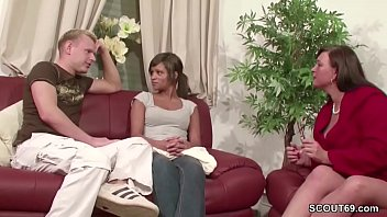 Young German Teen Couple Help to Fuck by Step Mother