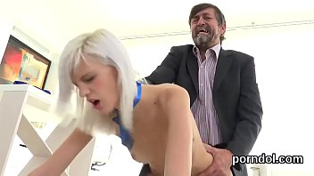 Kissable schoolgirl is tempted and pounded by her elder teacher