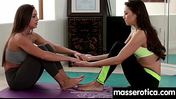 Sensual oil massage turns to hot lesbian action 11