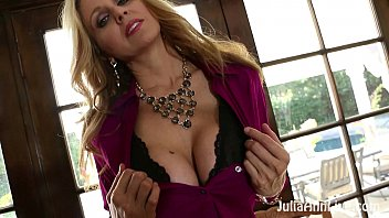 Sexy hot women stripping slowly free - Busty blonde milf julia ann plays with her wet pussy