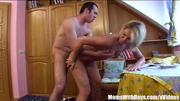 Tight Bodied Blonde Stepmom Spreading For Stepson