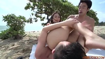 Impressive outdoor threesome with appealing Airi Minami thumbnail
