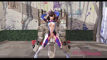 Hentai videos parody - Overwatch dva rides a fucking machine povhentai
