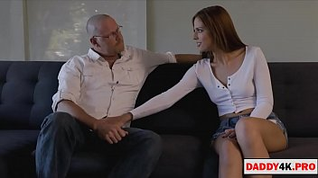 stepdaughter gives her tight pussy to her stepdad
