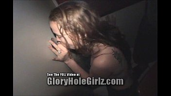 Nineteen year old Cathy Blows perverts in the gloryhole Thumb