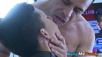 Daddy likes to bang his little twink sub slave bareback way