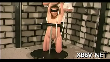 Delightful honey is playing with her huge sex tool