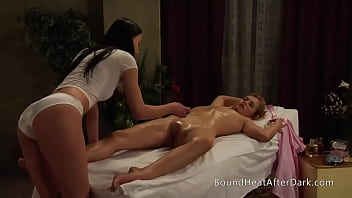 Lesbian Slave Gives Sensual Orgasmic Massage To Her Madame