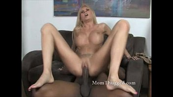White milf loving black cock with her holes