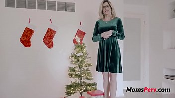 Christmas With Blonde Busty Mom- Cory Chase