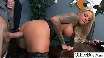 Hardcore Sex Tape In Office With Big Melon Tits Girl (britney shannon) video-13