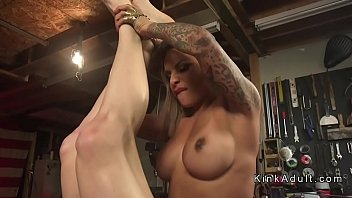 Huge tits tranny makes dude cum