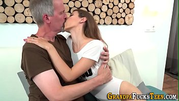 Teen covered in old cum