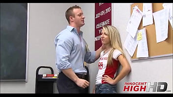 Skinny Blonde High School Girl Fucks The Hall Monitor - InnocentHighHD.com