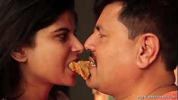 Young lonely girl kissed by neighbour uncle