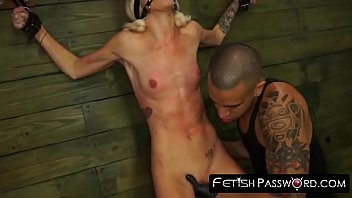 Submissive slut toyed and pussy drilled hard and rough
