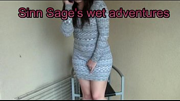Sinn Sage can't hold her bladder and wets herself 2014