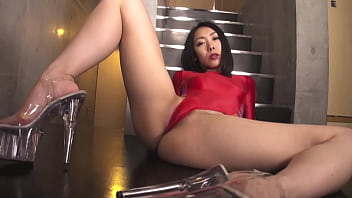 Asian suit trouser Soa daichi high-leg leotard red full legs,ass-fetish image video solo