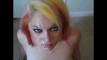 Blonde Teen Gags, Hates Cum In Mouth - Homemade Unexpected Cumshot