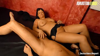 Image: AMATEUR EURO - Hot German BBW Kim Schmidts Fucks Hard On Her First Sex Reportage