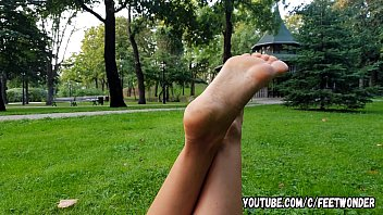 Mature sole Pretty girl shows her feet and soles