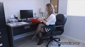 Female boss rewards the guy with the most sales