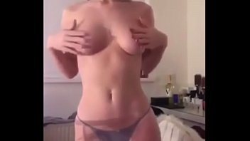 Redhead Strip   With nice tits