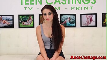 Amateur teen anally fucked at brutal casting