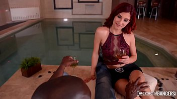 Interracial bangers get to see Redhead Shona River go for big black cock