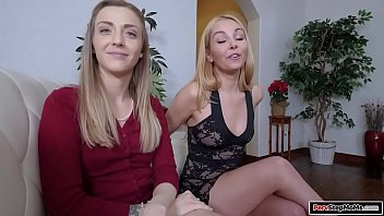 Milf and stepaunt threesome with stepson