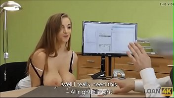 Big tits girl work interiew