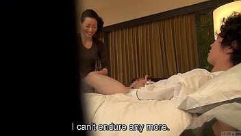 Subtitled Japanese milf massage therapist seduction in HD preview image