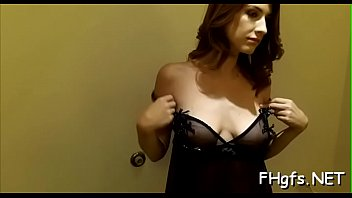 Glorious perfection Karina with great tits gives slim jim riding pleasure