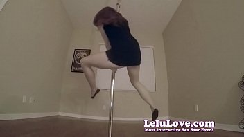 Poledancing and shaking and twerking my ass while I strip naked