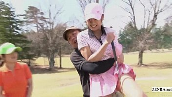 Golf hustlers Subtitled uncensored hd japanese golf outdoors exposure