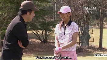 Subtitled uncensored HD Japanese golf outdoors exposure 3 min