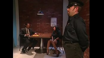 Cop fucks pretty hot and tempting  presumptive criminal with great tits in the interrogation room