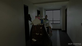 ROOM SERVICE! Slutty Latina maid Jolla fucks hotel guest and makes a mess in the room.