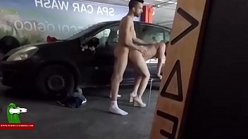 Sex in small places A young couple fucking and enjoying in a parking place adr0490