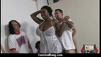 Ebony slut group fucked and facialized 26